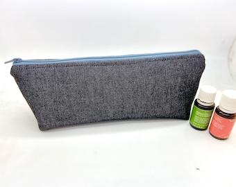 Essential oil case, bag holds 12-16 bottles,  Travel flat essential oil Bag Essential oil gift Essential oil storage