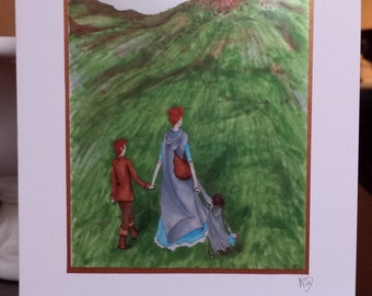 MacKenzies' Journey Art Print Greeting Card