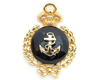 Vintage Pendant Anchor Nautical Royal Canadian Navy Sweetheart Pendant Rockabilly