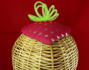 Red Strawberry Fascinator