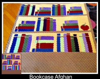 Bookshelf Afghan, C2C Crochet Pattern, Written Row Counts, C2C Graphs, Corner to Corner, Crochet Pattern, C2C Graph