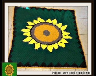 Sunflower Afghan, C2C Crochet Pattern, Written Row Counts, C2C Graphs, Corner to Corner, Crochet Pattern, C2C Graph