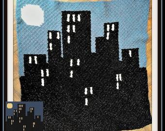 Nighttime Afghan, C2C Crochet Pattern, Written Row Counts, C2C Graphs, Corner to Corner, Crochet Pattern, C2C Graph