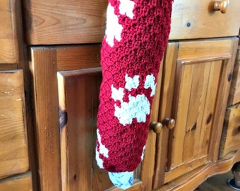 Paws Grocery Bag Holder, C2C Crochet Pattern, Written Row Counts, C2C Graphs, Corner to Corner, Crochet Pattern, C2C Graphv