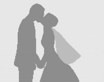 Wedding Couple Afghan, SC Crochet Pattern, tss Crochet Pattern,  SC Graph, TSS Graph
