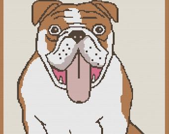 Bulldog 1 Afghan, SC Crochet Pattern, tss Crochet Pattern,  SC Graph, TSS Graph
