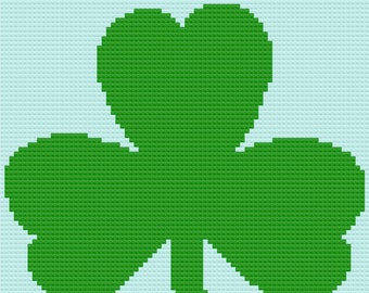 Shamrock Afghan, C2C Crochet Pattern, Written Row by Row, Color Counts, Instant Download, C2C Graph, C2C Pattern, C2C Crochet, Graphgan