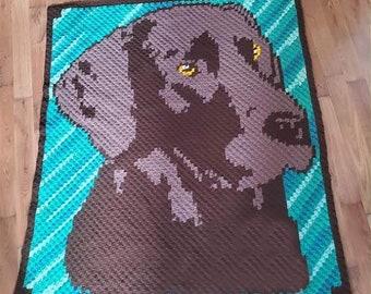 Chocolate Lab Afghan, C2C Crochet Pattern, Written Row Counts, C2C Graphs, Corner to Corner, Crochet Pattern, C2C Graph