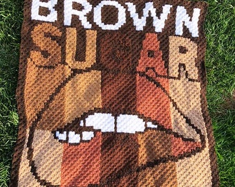 Brown Sugar Afghan, C2C Crochet Pattern, Written Row by Row, Color Counts, Instant Download, C2C Graph, C2C Pattern, C2C Crochet, Graphgan