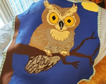 Owl at Night Afghan, SC Crochet Pattern, tss Crochet Pattern,  SC Graph, TSS Graph