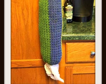 Kiwi Grocery Bag Holder,  Crochet Pattern