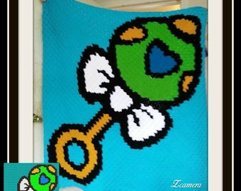 Baby Rattle Afghan, C2C Crochet Pattern, Written Row Counts, C2C Graphs, Corner to Corner, Crochet Pattern, C2C Graph