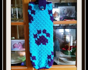 Paws Bag Holder, Crochet Pattern, Mini C2C