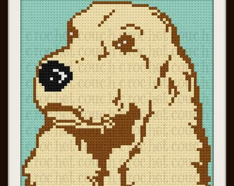 Cocker Spaniel Afghan, C2C Crochet Pattern, Written Row Counts, C2C Graphs, Corner to Corner, Crochet Pattern, C2C Graph