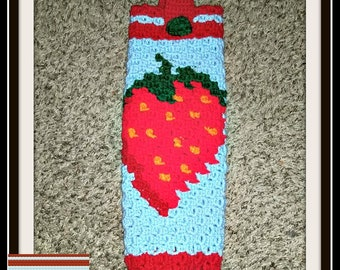 Strawberry Grocery Bag Holder, C2C Crochet Pattern, Written Row Counts, C2C Graphs, Corner to Corner, Crochet Pattern, C2C Graph