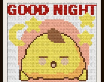 Good Night Baby Afghan, C2C Crochet Pattern, Written Row Counts, C2C Graphs, Corner to Corner, Crochet Pattern, C2C Graph