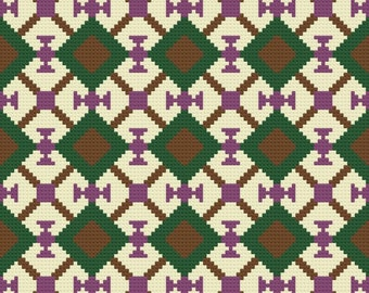 Carmel Quilt Afghan, C2C Crochet Pattern, Written Row Counts, C2C Graphs, Corner to Corner, Crochet Pattern, C2C Graph