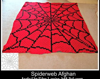 Spiderweb Afghan, C2C Crochet Pattern, Written Row Counts, C2C Graphs, Corner to Corner Crochet Pattern, C2C Graph