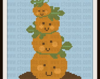 Pumpkin Tower Afghan, C2C Crochet Pattern, Written Row Counts, C2C Graphs, Corner to Corner, Crochet Pattern, C2C Graph