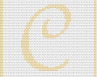 Letter C Baby Blanket, C2C Crochet Pattern, Written Row Counts, C2C Graphs, Corner to Corner, Crochet Pattern, C2C Graph