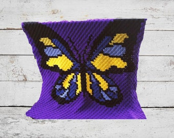 Butterfly Jewel Afghan, C2C Crochet Pattern, Written Row Counts, C2C Graphs, Corner to Corner Crochet Pattern, C2C Graph