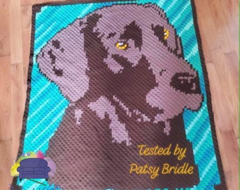 Chocolate Lab Afghan, C2C Crochet Pattern, Written Row Counts, C2C Graphs, Corner to Corner, Crochet Pattern, C2C Graph