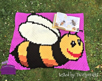 Bumblebee Kids Afghan, C2C Crochet Pattern, Written Row Counts, C2C Graphs, Corner to Corner, Crochet Pattern, C2C Graph