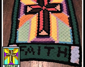 C2C Graph, Stained Glass Lapghan, C2C Graph,  Written Word Chart, stained glass c2c, c2c afghan
