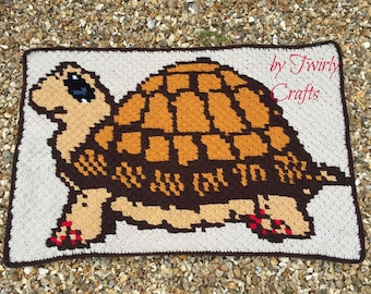 Turtle Afghan, C2C Crochet Pattern, Written Row Counts, C2C Graphs, Corner to Corner Crochet Pattern, C2C Graph