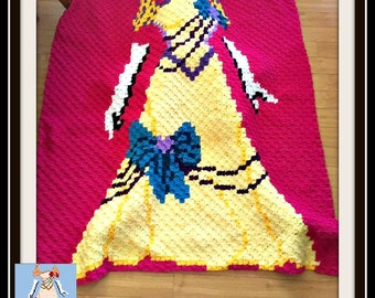 Victorian Dress, C2C Crochet Pattern, Written Row Counts, C2C Graphs, Corner to Corner, Crochet Pattern, C2C Graph