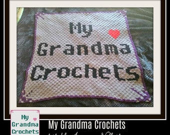 My Grandma Crochets, Baby Afghan,C2C Crochet Pattern, Written Row Counts, C2C Graphs, Corner to Corner, Crochet Pattern, C2C Graph, graphgan
