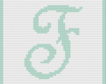 Letter F Baby Afghan, C2C Crochet Pattern, Written Row by Row, Color Counts, Instant Download, C2C Graph, C2C Pattern, Graphgan Pattern