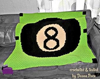 Eight Ball Afghan, C2C Crochet Pattern, Written Row Counts, C2C Graphs, Corner to Corner, Crochet Pattern, C2C Graph