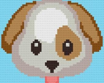 Puppy Face Baby Blanket, C2C Crochet Pattern, Written Row Counts, C2C Graphs, Corner to Corner, Crochet Pattern, C2C Graph