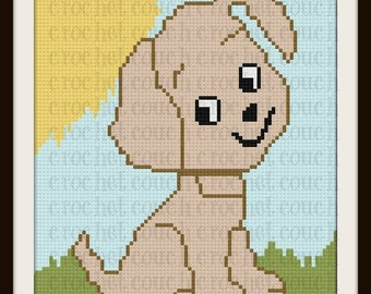 Puppy Twin Afghan, C2C Crochet Pattern, Written Row Counts, C2C Graphs, Corner to Corner, Crochet Pattern, C2C Graph