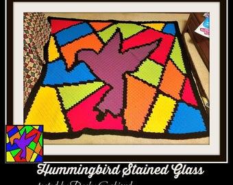 Hummingbird Afghan, C2C Crochet Pattern, Written Row Counts, C2C Graphs, Corner to Corner, Crochet Pattern, C2C Graph