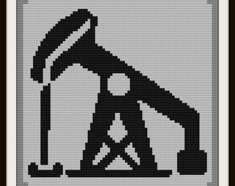 Drilling Rig Afghan, C2C Crochet Pattern, Written Row Counts, C2C Graphs, Corner to Corner, Crochet Pattern, C2C Graph