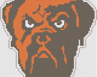 Bulldog Angry Afghan, C2C Crochet Pattern, Written Row by Row, Color Counts, Instant Download, C2C Graph, C2C Pattern, C2C Crochet, Graphgan