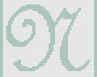 Letter N Baby Afghan, C2C Crochet Pattern, Written Row by Row, Color Counts, Instant Download, C2C Graph, C2C Pattern, Graphgan Pattern