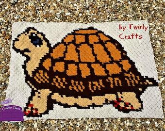 Turtle Afghan, C2C Crochet Pattern, Written Row by Row, Color Counts, Instant Download, C2C Graph, C2C Pattern, C2C Crochet, Graphgan