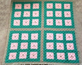 Toni Quilt Blanket, C2C Crochet Pattern, Written Row Counts, C2C Graphs, Corner to Corner, Crochet Pattern, C2C Graph
