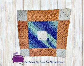 Ann Quilt Square, C2C Crochet Pattern, Written Row Counts, C2C Graphs, Corner to Corner, Crochet Pattern, C2C Graph