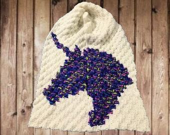 Unicorn Scarf, C2C Crochet Pattern, Written Row Counts, C2C Graphs, Corner to Corner, Crochet Pattern, C2C Graph