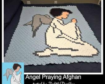 Angel Praying Baby Afghan, C2C Crochet Pattern, Written Row Counts, C2C Graphs, Corner to Corner, Crochet Pattern, C2C Graph