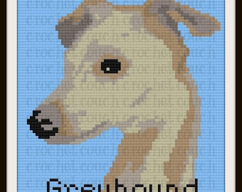 Greyhound Afghan, C2C Crochet Pattern, Written Row Counts, C2C Graphs, Corner to Corner, Crochet Pattern, C2C Graph