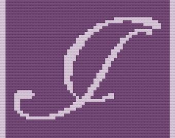 Letter I Baby Afghan, C2C Crochet Pattern, Written Row Counts, C2C Graphs, Corner to Corner, Crochet Pattern, C2C Graph, Instant Download