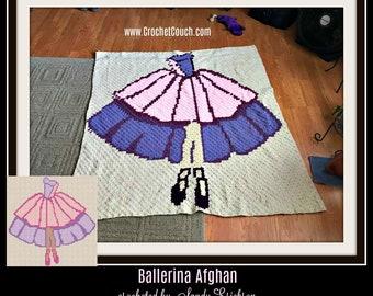 Ballerina Afghan, C2C Crochet Pattern, Written Row Counts, C2C Graphs, Corner to Corner, Crochet Pattern, C2C Graph