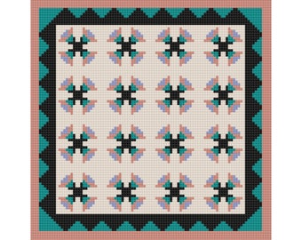 After Hours Afghan, C2C Crochet Pattern, Written Row by Row, Color Counts, Instant Download, C2C Graph, C2C Pattern, c2c graphgan pattern