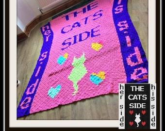 Cats Side Afghan, C2C Crochet Pattern, Written Row Counts, C2C Graphs, Corner to Corner, Crochet Pattern, C2C Graph