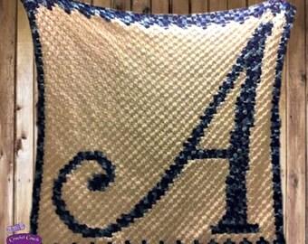 Letter A Kids Afghan, C2C Crochet Pattern, Written Row by Row, Color Counts, Instant Download, C2C Graph, C2C Pattern, Graphgan
